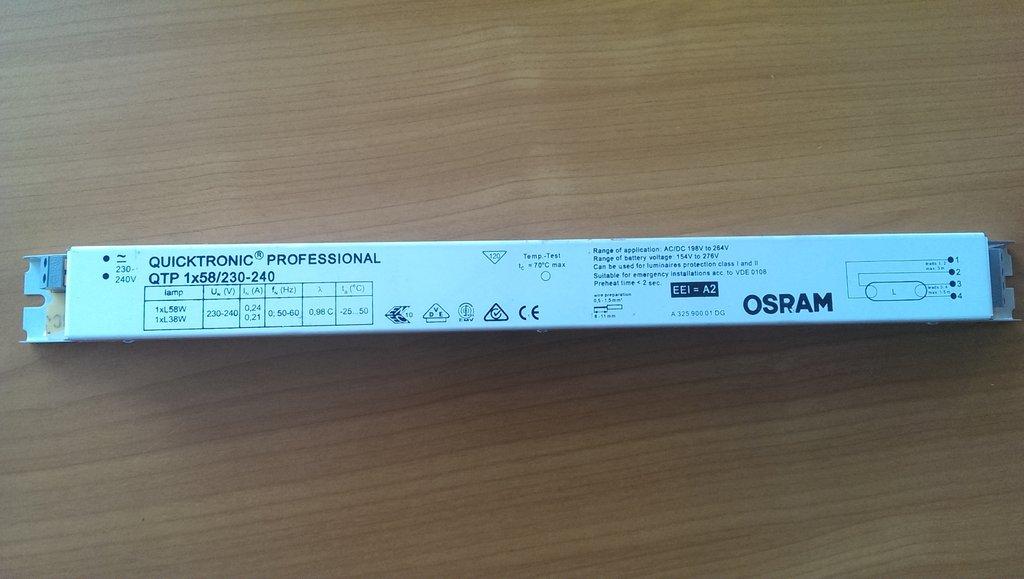 5 EVG QTP 2x58W 230-240 CW OSRAM QUICKTRONIC PROFESSIONAL Vorschaltgerät